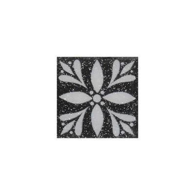 Daltile Fashion Accents Black 2 x 2 Glimmer Insert(Set of 4) FA0622DOTB1P