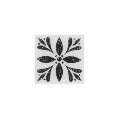 Daltile Fashion Accents White 2 X 2 Glimmer Insert(set Of 4) White/Cream FA0622DOTA1P