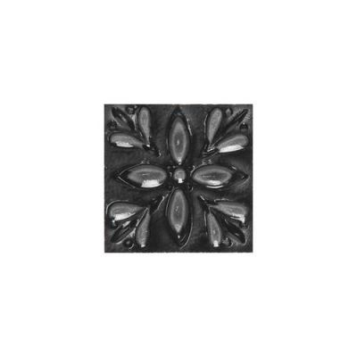Daltile Fashion Accents Black 2 x 2 Petitfour Insert(Set of 4) FA0722DOTD1P