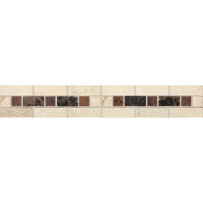 Daltile Fashion Accents Burnished Honed Dark 2 x 12 Decorative Accent FA09212DECOA1P