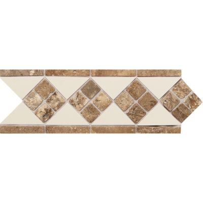 Daltile Fashion Accents 135 Almond Noce 4 x 12 Tumbled Stone Listello FA52412LIST1P