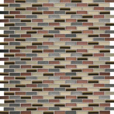 Daltile Fashion Accents Copper Blend 12 x 12 Sheet Brix Mosaic FA631212BMS1P