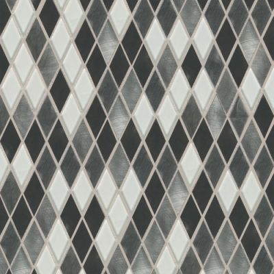 Daltile Fashion Accents Nickel Blend 12 x 12 Sheet Harlequin Mosaic FA6411HARMS1P