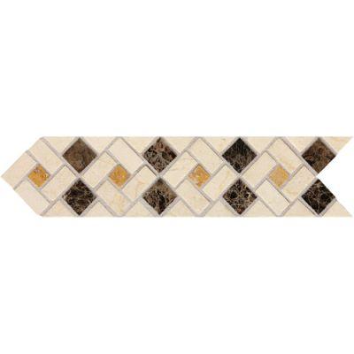Daltile Fashion Accents Pinwheel 3 x 12 Decorative Accent FA73312DECO1P