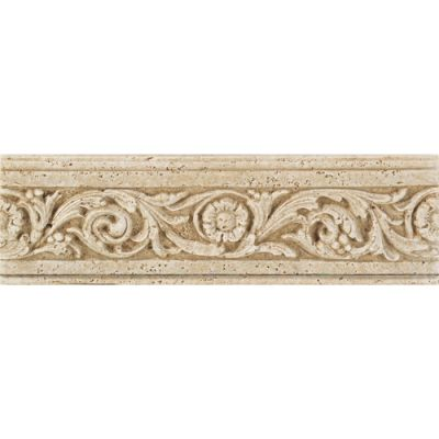 Daltile Fashion Accents Flora Travertine 4 X 13 Accent Strip Beige/Taupe FA93413LIST1P