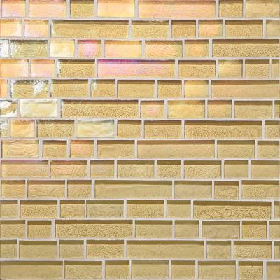 Daltile Glass Horizons Reed Random Linear Mosaic Gold GH0434RANDPM1P