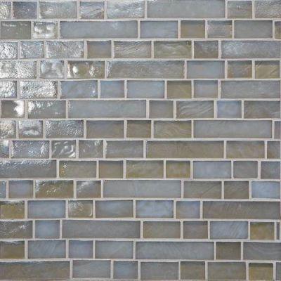 Daltile Glass Horizons Tide Random Linear Mosaic Gray/Black GH0834RANDPM1P