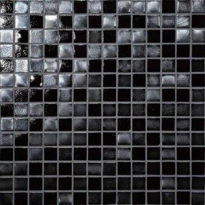 Daltile Glass Horizons Black Sand Mosaic Gray/Black GH093434PM1P