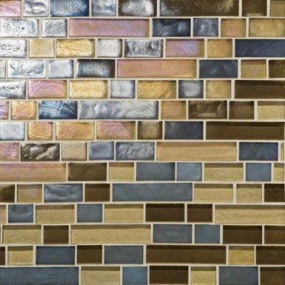 Daltile Glass Horizons Pacific Blend Random Linear Mosaic GH1434RANDPM1P