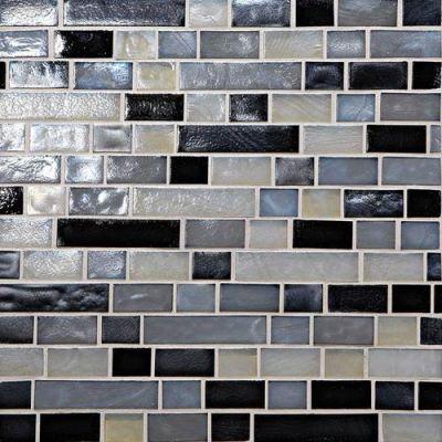 Daltile Glass Horizons Baltic Blend Random Linear Mosaic GH1634RANDPM1P