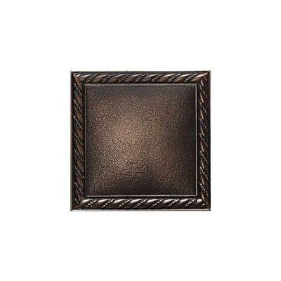Daltile Ion Metals Antique Bronze Rope Deco 4 1/4 X 4 1/4 Brown IM0144DECO1P