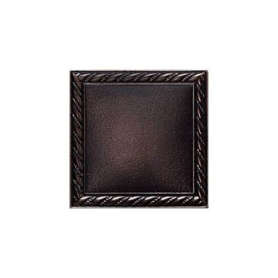 Daltile Ion Metals Oil Rubbed Bronze Rope Deco 4 1/4 x 4 1/4 IM0344DECO1P