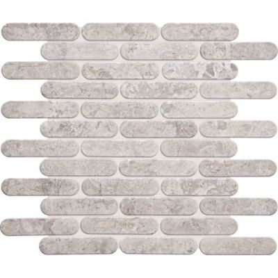 Daltile Limestone Collection Siberian Tundra Oval Mosaic Polished L701OVALMS1L