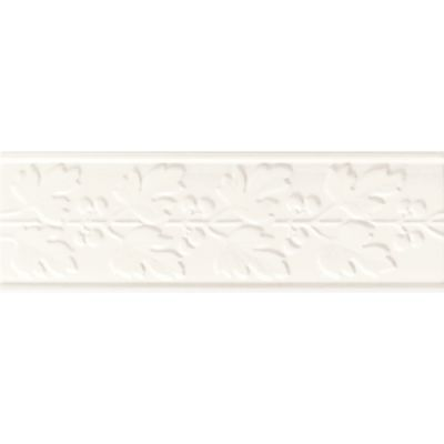 Daltile Polaris Gloss White Deco Fiore 4″ x 12″ PL02412DECO1P