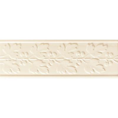 Daltile Polaris Gloss Almond Deco Fiore 4″ X 12″ Beige/Taupe PL22412DECO1P