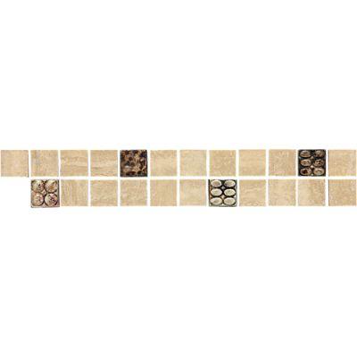 Daltile Travertine Collection Westminster Border (accent Polished) Beige/Taupe DA76212BR1L