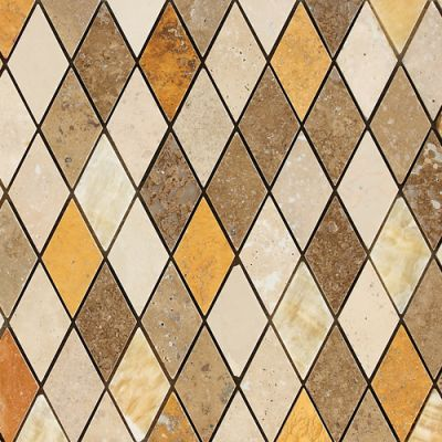 Daltile Marble Collection Tevere Harlequin Blend (mosaic Polished And Honed) Brown DA8213HARMS1P