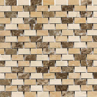 Daltile Marble Collection Adda Blend (brickjoint Polished) Brown DA83121BJMS1L