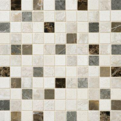 Daltile Marble Collection Taro Blend (polished Mosaic) Gray/Black DA8911MS1L