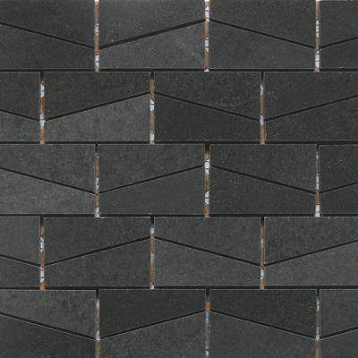 "Daltile Stone A"" La Mod Wedge Polished Urban Bluestone Gray/Black L22223WDGMS1L"