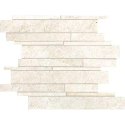 Daltile Marble Collection White Cliffs Random Linear Mosaic M1051215RDMS1P