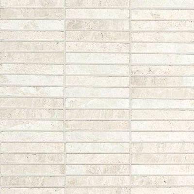Daltile Marble Collection White Cliffs Straightjoint Mosaic M105584SJMS1L