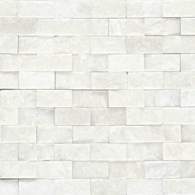 Daltile Marble Collection First Snow Elegance 1 x 2 Split Face Mosaic M19012SF1S