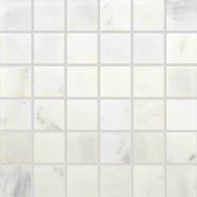 Daltile Marble Collection First Snow Elegance 2 x 2 Mosaic Tumbled M19022MSTS1P