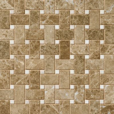 Daltile Marble Collection Emperador Light Classic (basketweave Polished) Brown M712BSKTWVMS1L
