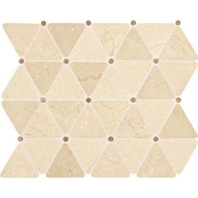 Daltile Stone Mosaics Crema Marfil Classico2 3/4 x 2 1/2 Triangle Mosaic Polished M722TRIANGLMS1P