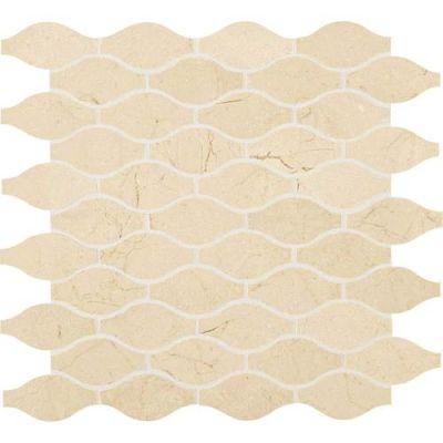 Daltile Stone Mosaics Crema Marfil Classico 3 x 1 1/2 Marquise Mosaic Polished M722MARQUISMS1P