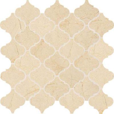 Daltile Stone Mosaics Crema Marfil Classico 3 x 3 Baroque Mosaic Polished M722BAROQUEMS1L