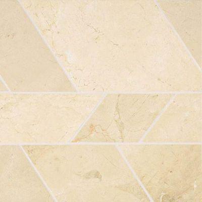 Daltile Stone Mosaics Crema Marfil Classico Modern Mosaic Polished White/Cream M722MODERNMS1L