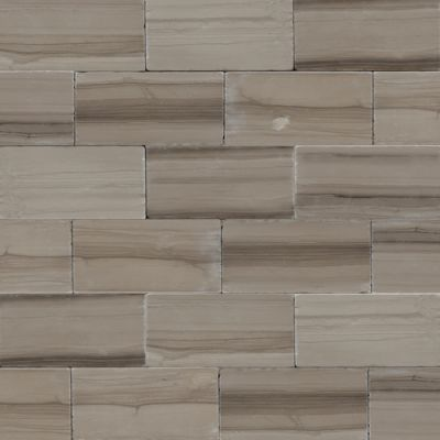 Daltile Marble Collection Silver Screen (veincut Tumbled) Gray/Black M74436TSV1P