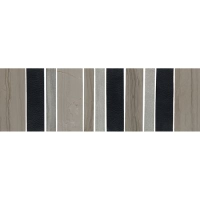 Daltile Marble Collection Leather Blend Gray/Black M744412BR1P