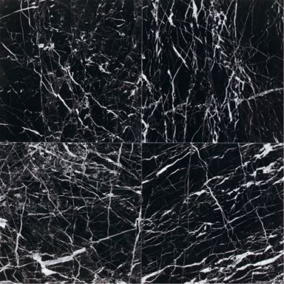 Daltile Marble Collection China Black (polished) Gray/Black M75112121L