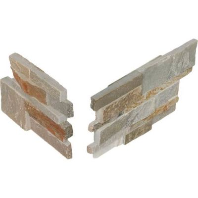 Daltile Stacked Stone Shanghai Rust (Stacked Stone Corner) S349CORNER1T