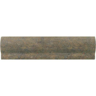 Daltile Slate Collection Indian Multicolor (chair Rail) Gray/Black TS7028CR1P