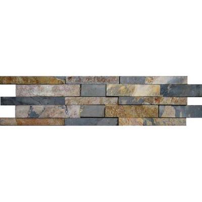 Daltile Stacked Stone Indian Multi (Random Kayla HighLow Natural Cleft Ungauged) S771624KAYMS1P