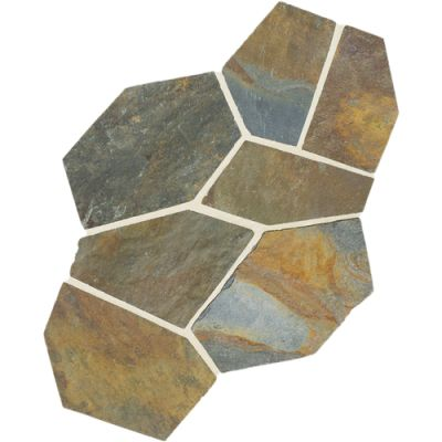 Daltile Slate Collection Mongolian Spring (Pattern Flagstone Natural Cleft Gauged) S781PATTNFLAG1P