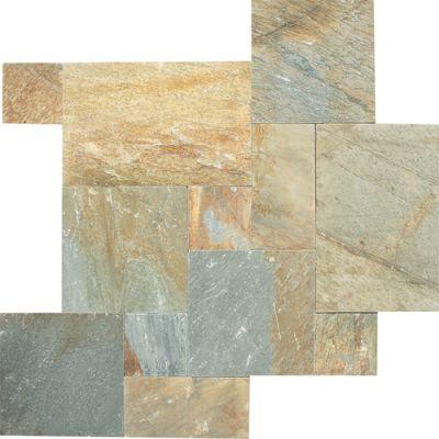 Daltile Natural Quartzite Golden Sun (versailles Pattern Natural Cleft Gauged) Gold/Yellow S783PATTERN1P