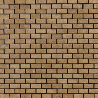 Daltile Travertine Collection Noce (polished Brickjoint Polished) Brown T311121BJMS1L
