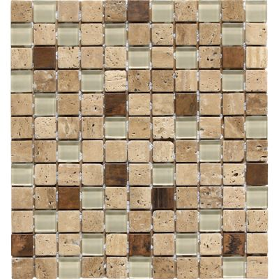 Daltile Travertine Collection Piave Blend (tumbled) Brown T31111MSBLDTS1P