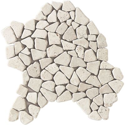 Daltile Travertine Collection Baja Cream (pebble Mosaic) White/Cream T720PEBBLETS1P