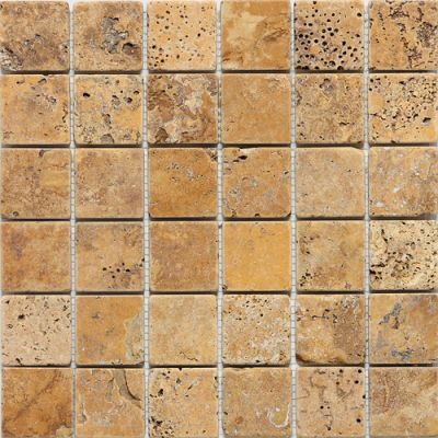 Daltile Travertine Collection Sienna Gold (tumbled) Terra Cotta's T73122MSTS1P