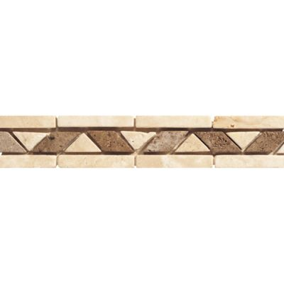 Daltile Travertine Collection Walnut (rope Accent) Beige/Taupe TS17212BR1P