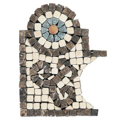 Daltile Marble Collection Emperador Dark / Crema Marfil (Scroll Accent Corner) TS5746BRCNR1P