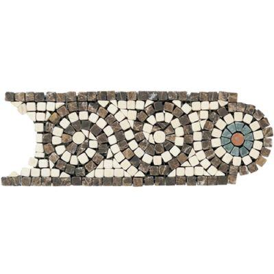 Daltile Marble Collection Emperador Dark / Crema Marfil (Scroll Accent) TS57410BR1P