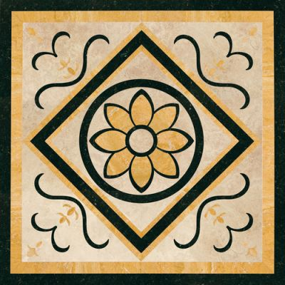 Daltile Medallion Collection Floral WJM14242MEDC1P