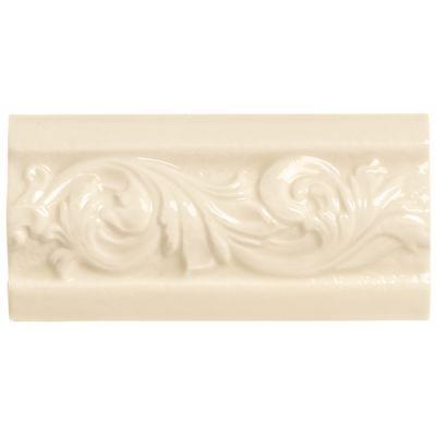 Daltile Rittenhouse Square Translucent Almond Classic White/Cream RT0136DECOA1P